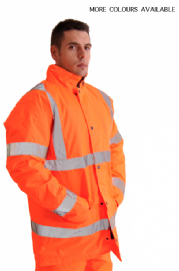 High Visibility Plain Warning Parka Coat